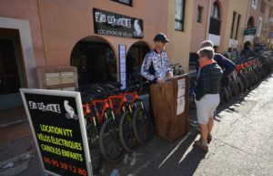 Magasin La Bécane, location de vélos à Porquerolles